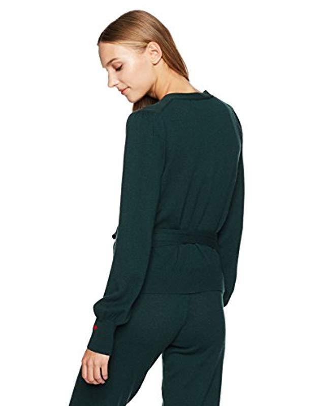 fd982d4f1a Lyst - Dear Drew by Drew Barrymore Weekend Cashmere Wrap Top in Green