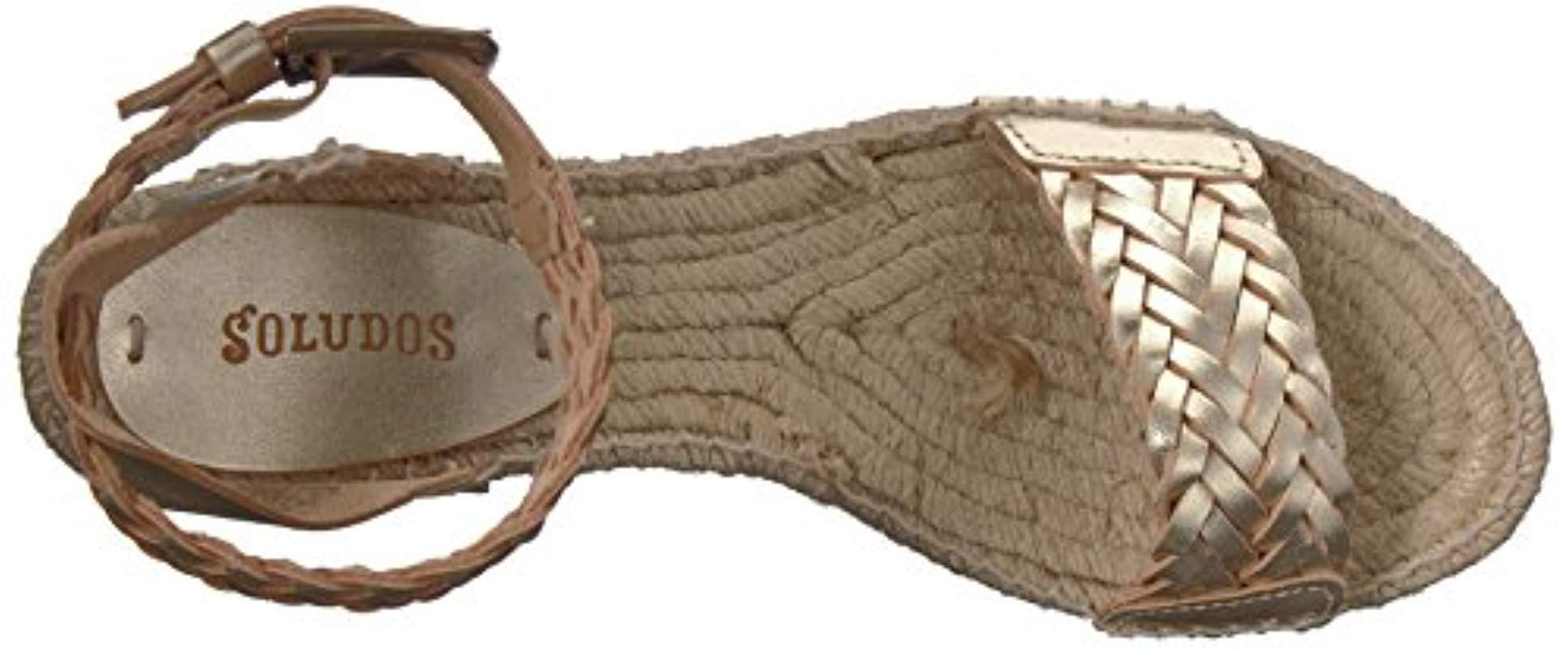 b1a92a33927 Lyst - Soludos Woven Demi Wedge Open Toe Sandal Espadrille