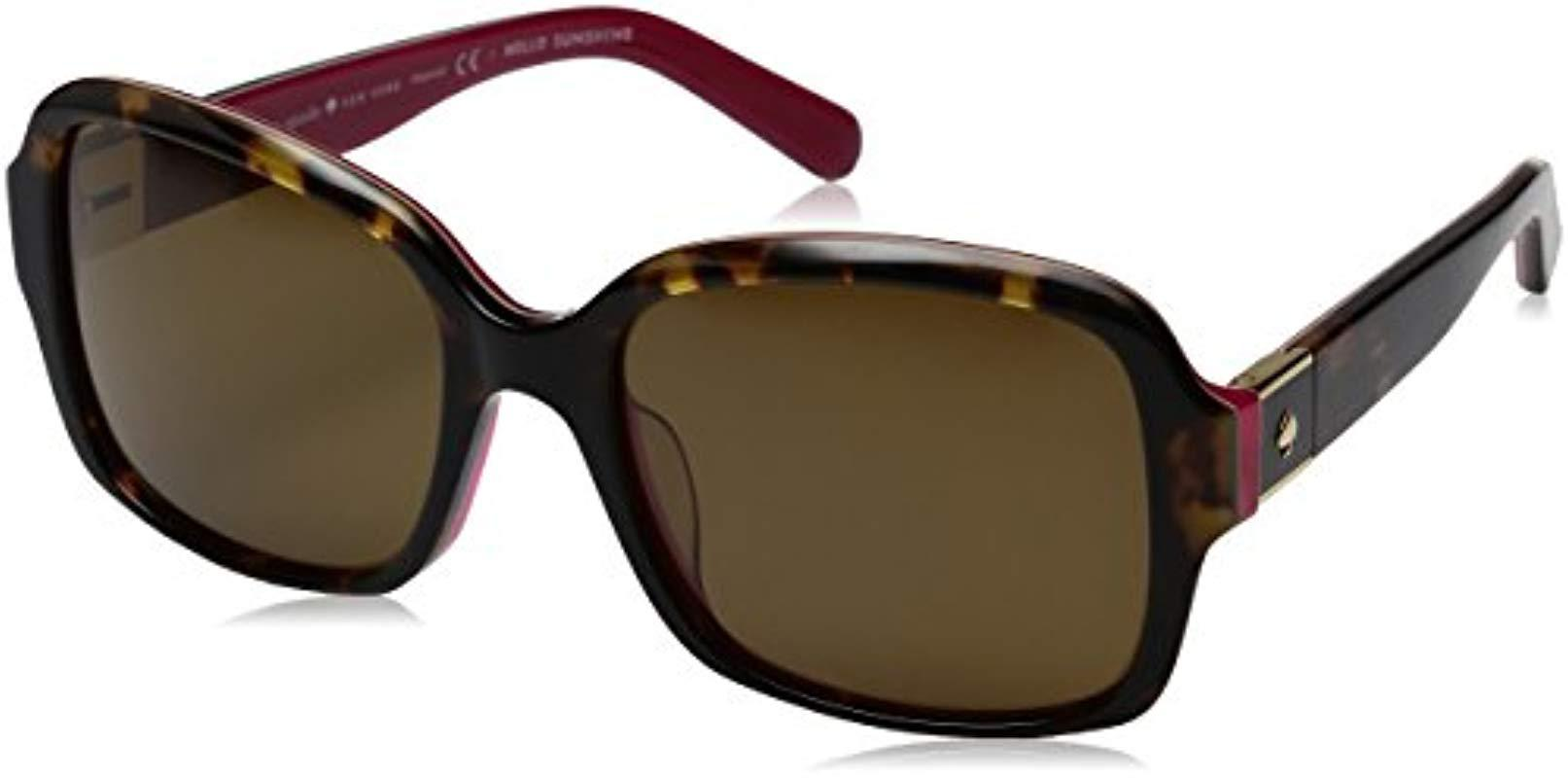 348687d647 Kate Spade. Women s Brown Kate Spade Annora ps Annorps Polarized  Rectangular Sunglasses