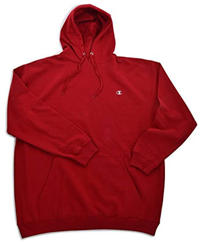 172a0934b5d4 Lyst - Champion Big-tall Fleece Pullover Hoodie in Red for Men ...