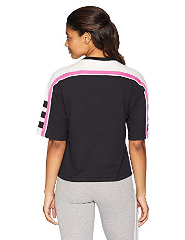 33564506b Adidas - Black Racing Aa-43 Cropped Tee - Lyst. View fullscreen