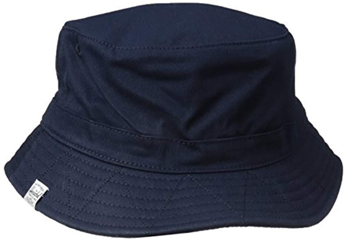 4f56280101b Lyst - Herschel Supply Co. Lake Bucket Hat in Blue for Men