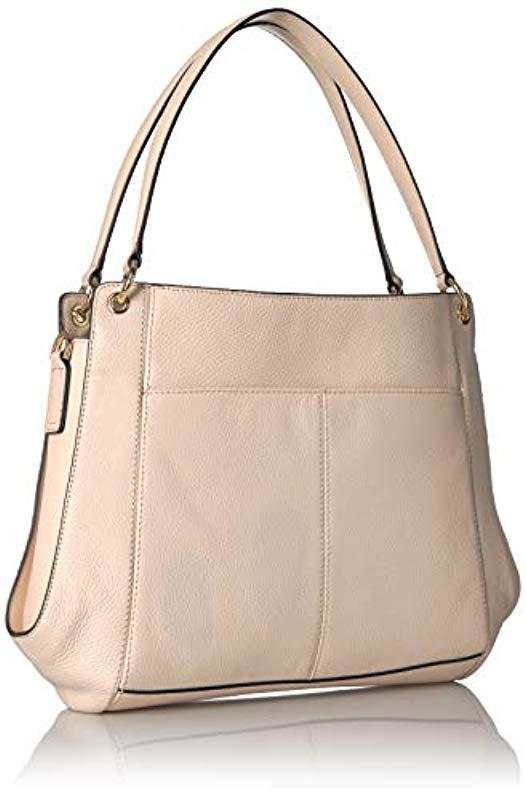 Calvin Klein - Natural Melanie Pebble Leather Slouchy Zip Face Hobo - Lyst.  View fullscreen c1b55ad042e26