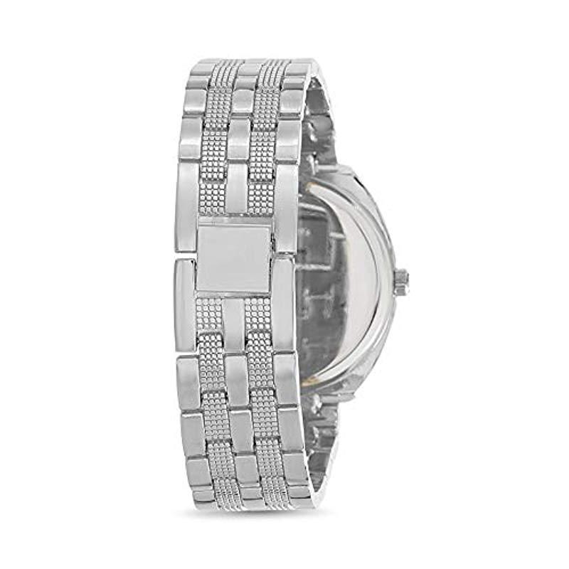 368dc5596b0 Steve Madden - Metallic Madden Girl Watch With Charm And Stone Bracelet Set  Smgs017 - Lyst. View fullscreen