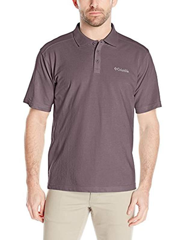 15bf22f29a1 Lyst - Columbia Elm Creek Polo Shirt in Purple for Men