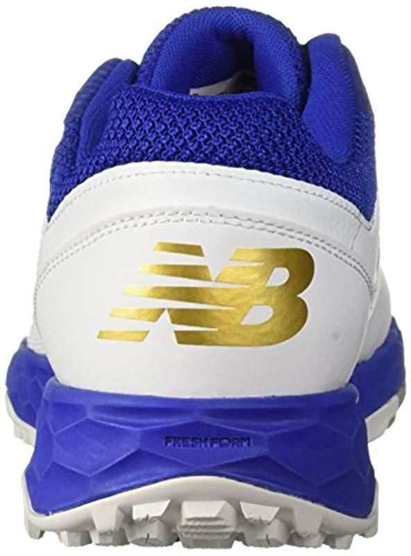 1303e102c New Balance - Velo V1 Turf Softball Shoe Royal white 9 D Us - Lyst. View  fullscreen