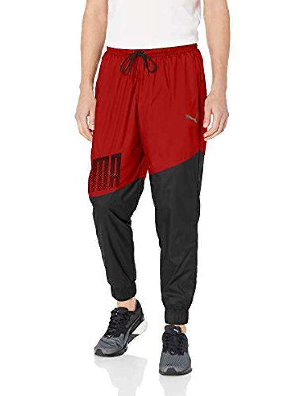 d574f59b5212 Lyst - PUMA A.c.e. Woven Trackster Pant in Red for Men