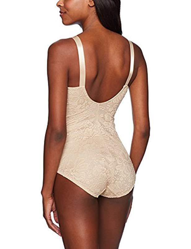 f408e06f23 Lyst - Joan Vass Control Lace Bodysuit