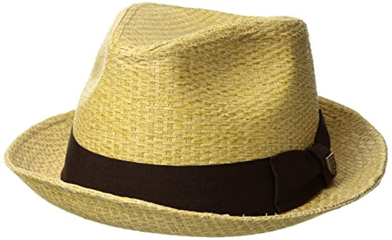 Lyst - Brixton Castor (tan Straw) Traditional Hats for Men - Save 31% c24496e58112