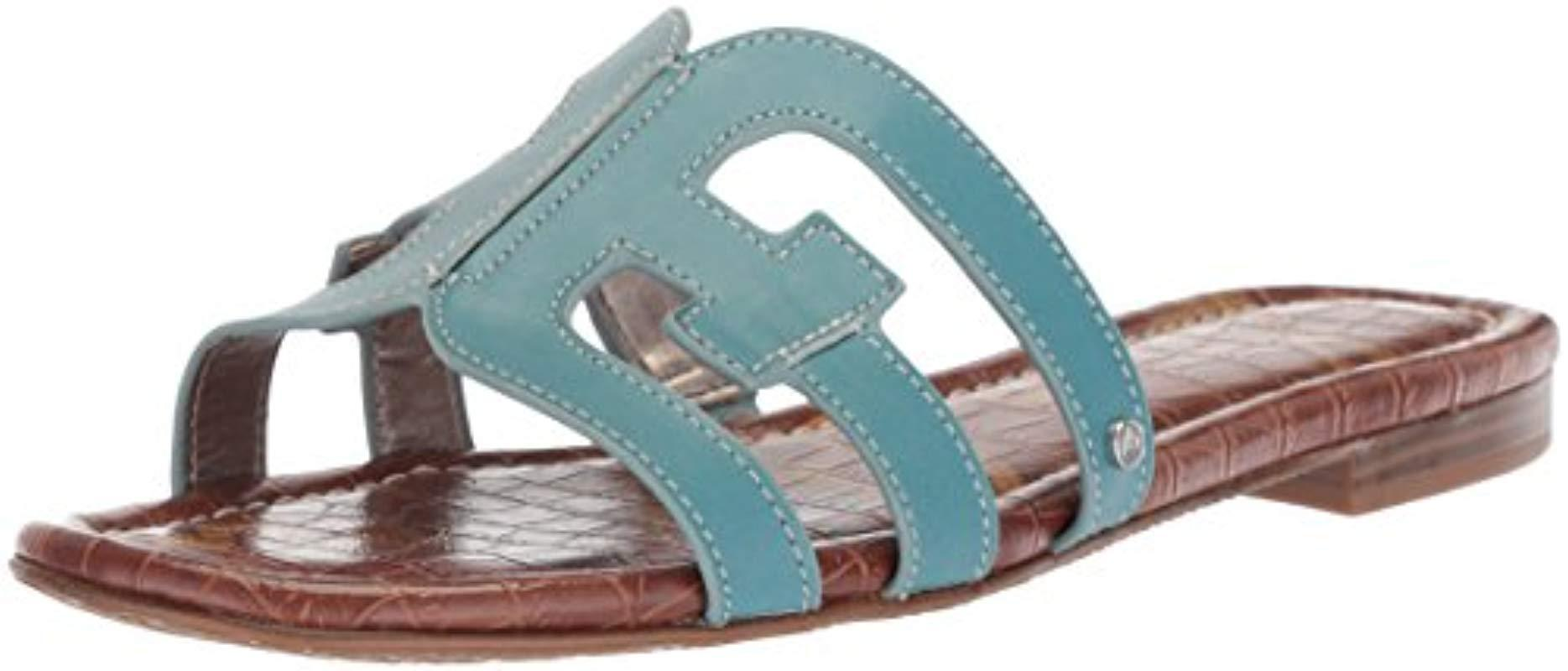 c72e7084c6 Sam Edelman Bay Slide Sandal in Blue - Save 55% - Lyst