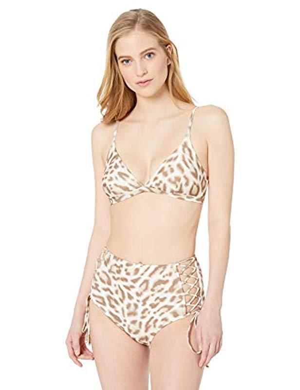 aeeaf531085 Carmen Marc Valvo - Natural Over The Shoulder Bikini Top Swimsuit - Lyst.  View fullscreen