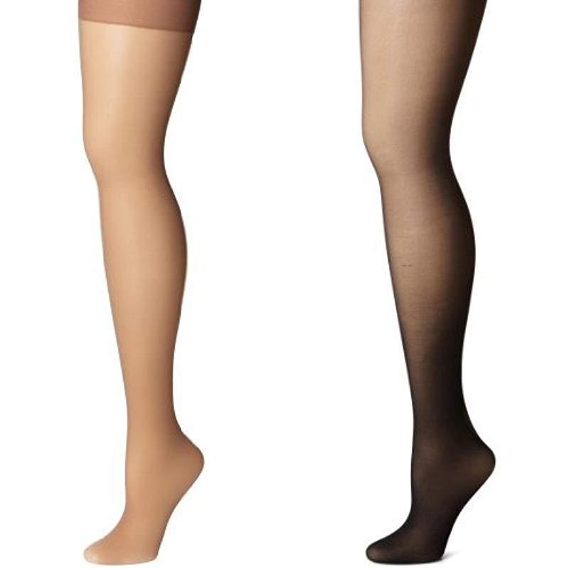fa01c1bc56e4b Hanes. Women's White Silk Reflections Lasting Sheer Control Top ...