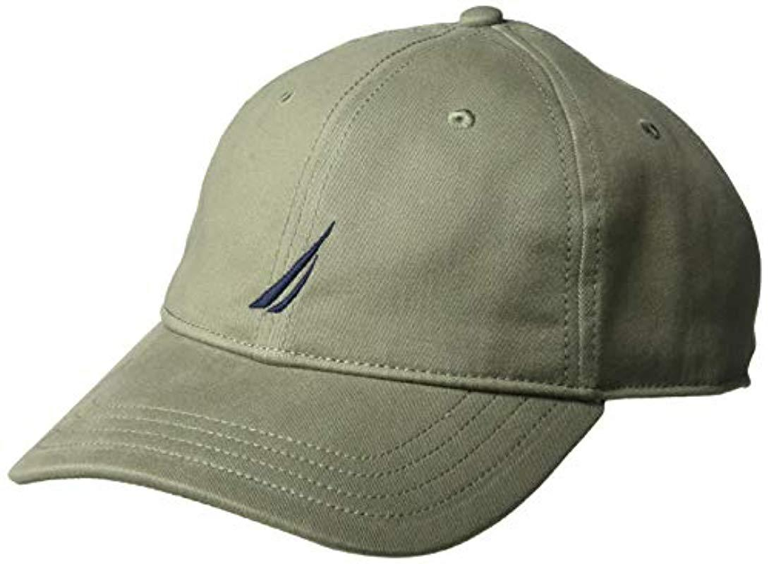 7f1e1624b96187 Lyst - Nautica Classic Logo Adjustable Baseball Cap Hat in Green for ...