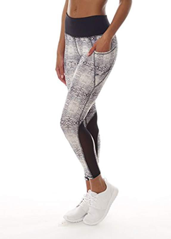 8f7edc2014 X By Gottex - Multicolor Leggings |activewear, Easy Access Pocket| Mesh  Full Length