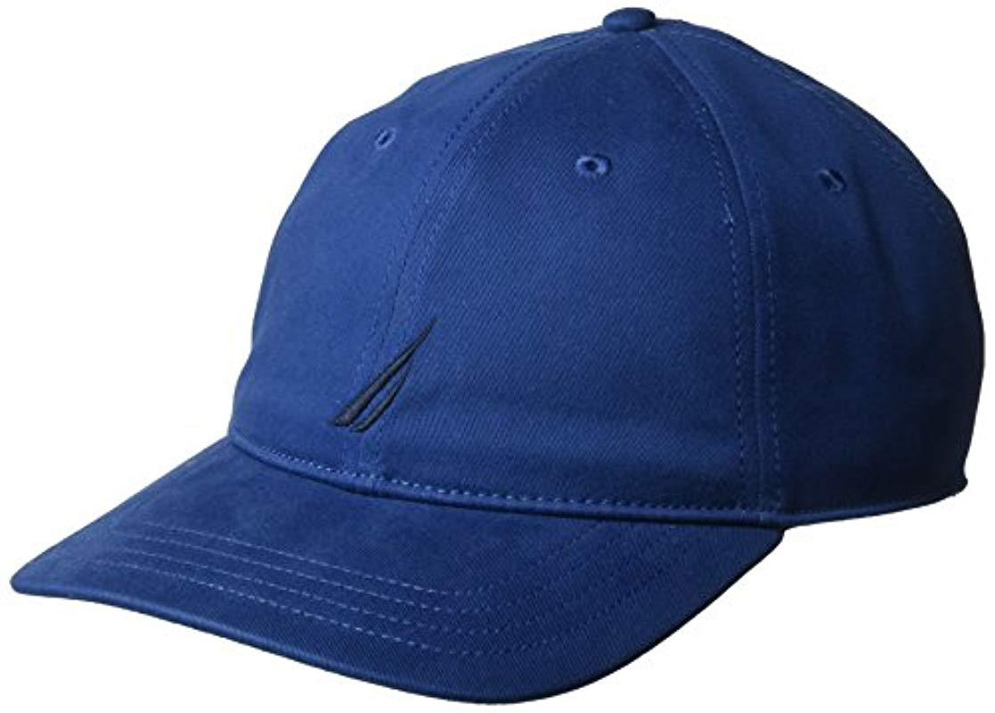 52e9741e07695f Nautica Classic Logo Adjustable Baseball Cap Hat in Blue for Men ...