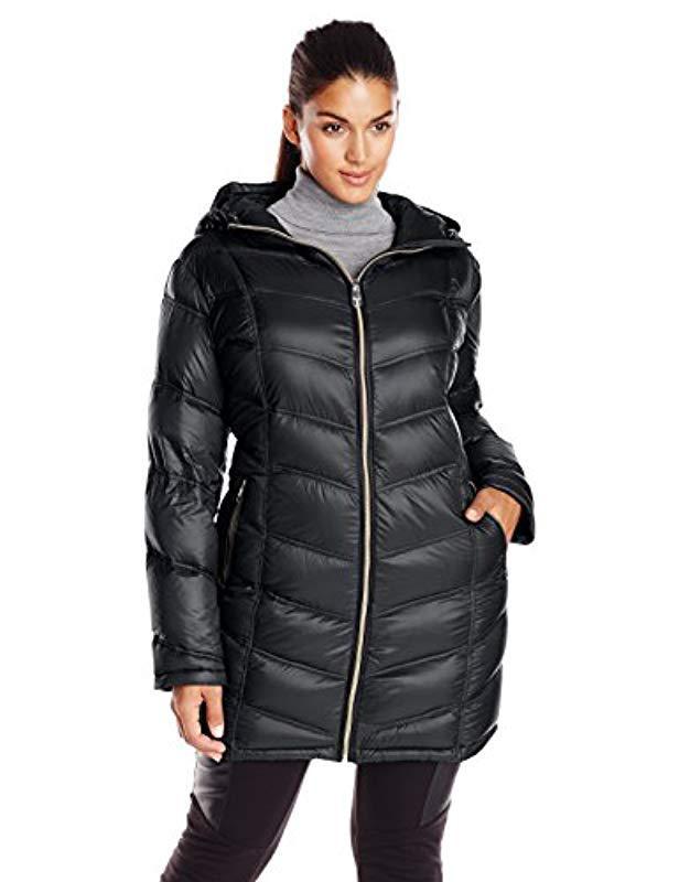 b824cc2209f Lyst - Calvin Klein Plus-size Packable Down Coat in Black