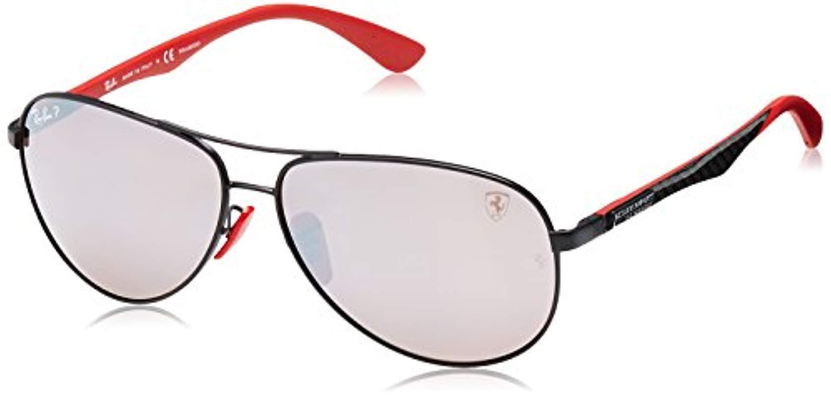 37ddd62a13 ... hot ray ban. mens black rb8313m scuderia ferrari collection polarized  sunglasses cc1a2 14176