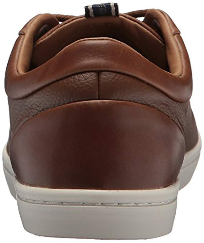 d2ea57e4cad6ab Lyst - Lacoste  s Straightset Sneakers in Brown for Men