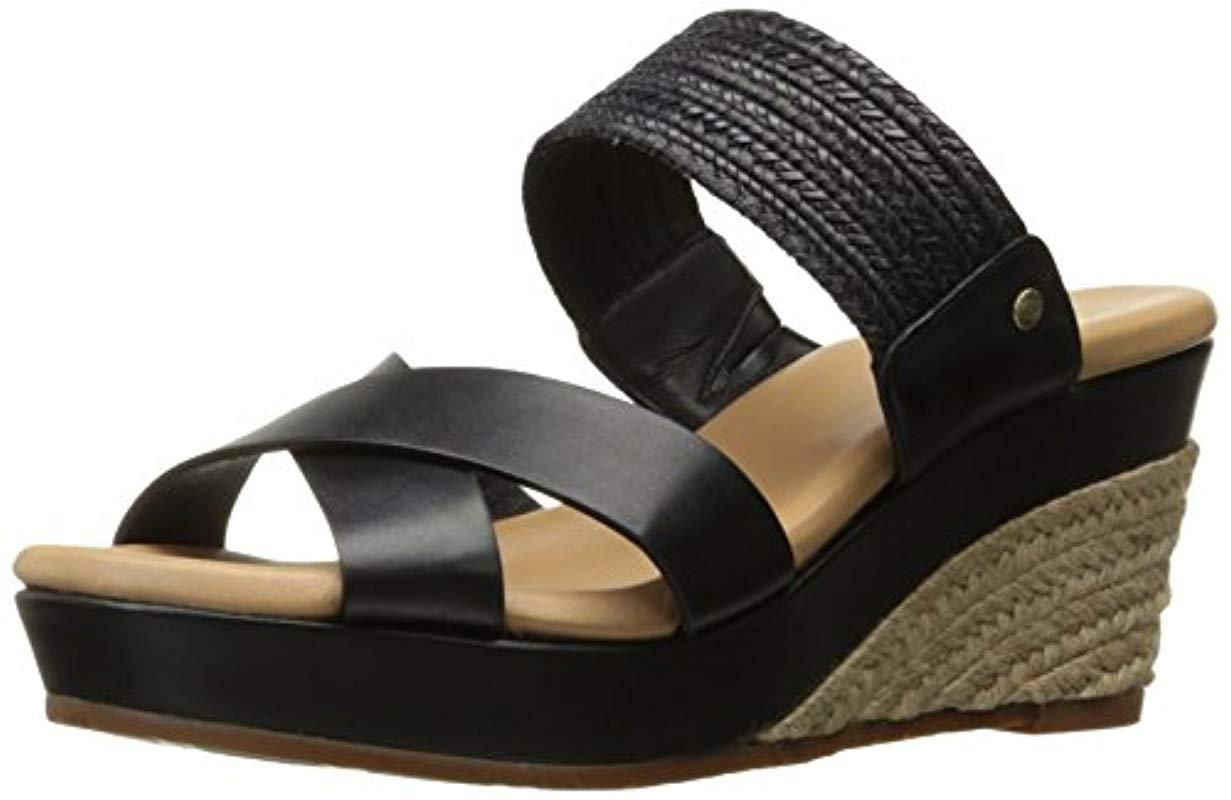 06fcbe965755 Lyst - Ugg Adriana Wedge Sandal in Black - Save 17.721518987341767%
