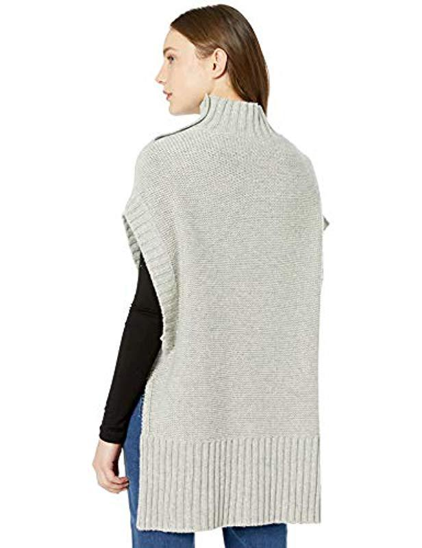1a9e8da99b3 Lyst - Bcbgmaxazria Cable Knit Turtleneck Sweater in Gray