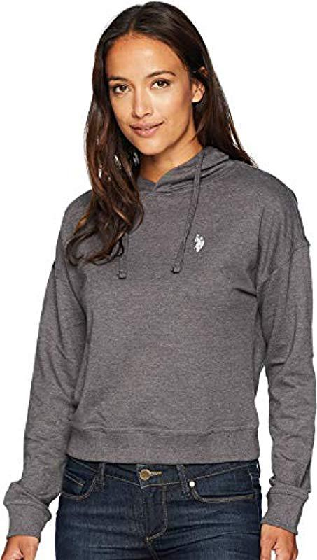 c7988594d661 Lyst - U.S. POLO ASSN. Pullover Hoodie in Gray - Save 9%