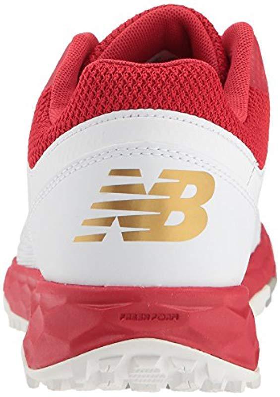 8e9eebb80 New Balance - Velo V1 Turf Softball Shoe Red white 8 D Us - Lyst. View  fullscreen