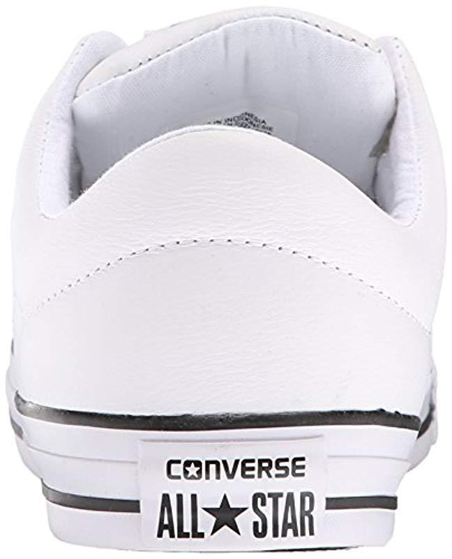 d8bdcb975839d9 ... Lyst - Converse Street Leather Low Top Sneaker in White for pretty cool  ce179 d33b6  Converse Mens Chuck Taylor All Star Street Mid ...