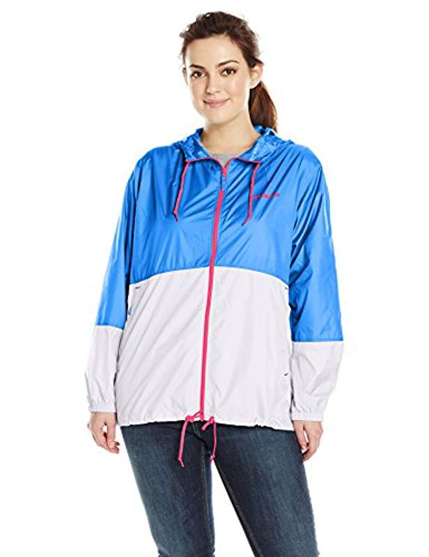 67ffd4f8c69 Lyst - Columbia Plus-size Flash Forward Windbreaker in Blue - Save 31%