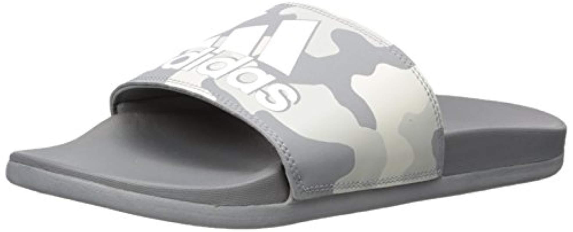 460dcf51b8d6 Lyst - adidas Originals Adidas Adilette Comfort Slide Sandal in Gray ...