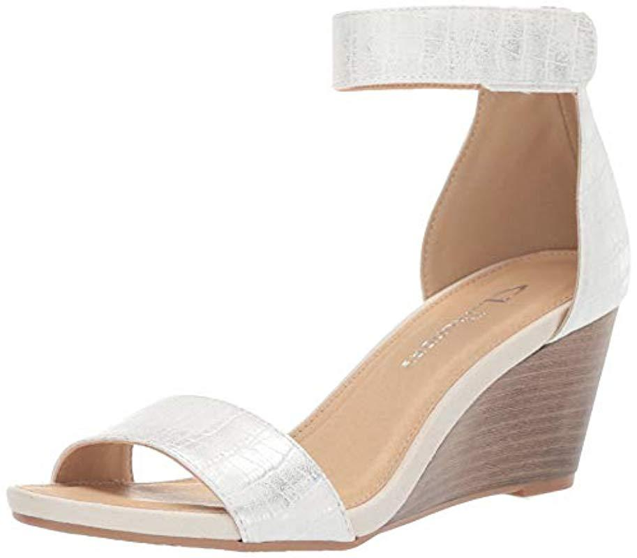 ee3667528 Lyst - CL By Chinese Laundry Hot Zone Wedge Sandal in Metallic - Save 7%