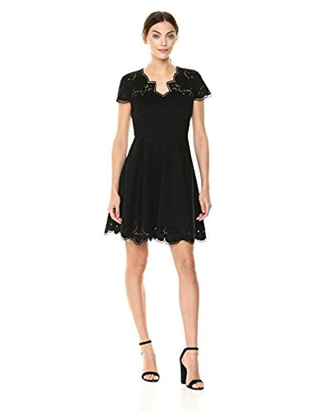 6495048541427a Lyst - Ted Baker Saloane Dress in Black - Save 42.53968253968254%