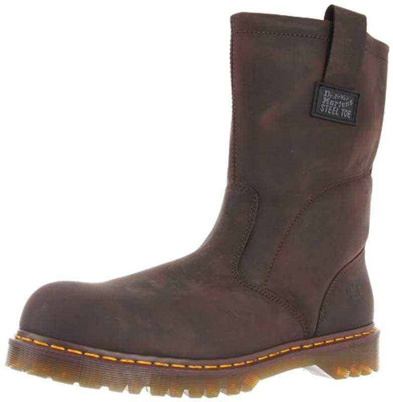 53985c645e6 Lyst - Dr. Martens Icon Industrial Strength Steel Toe Boot in Brown