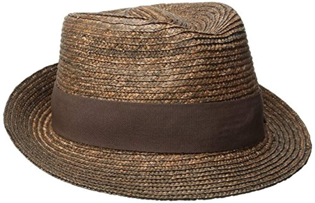 b098e5ce Lyst - Kangol Wheat Braid Arnold Trilby Hat in Brown for Men - Save 7%