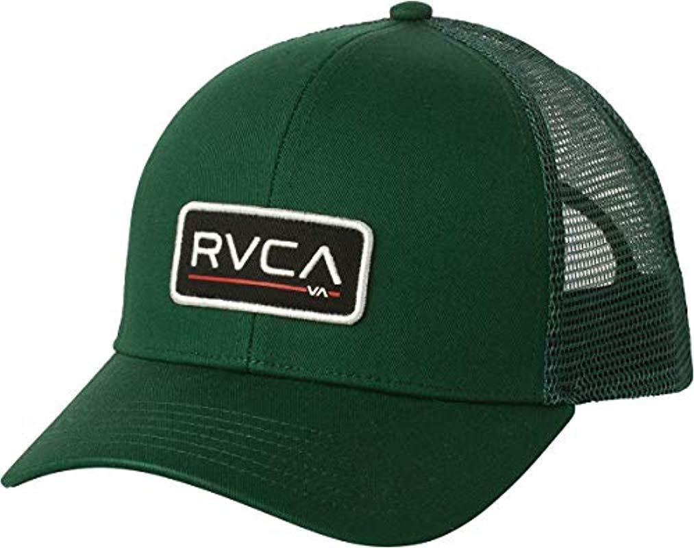 RVCA - Green Ticket Trucker Hat b401db4bc58c