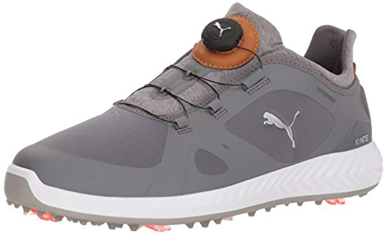 f63081ca3243 Lyst - PUMA Ignite Pwradapt Disc Golf Shoe in Gray for Men