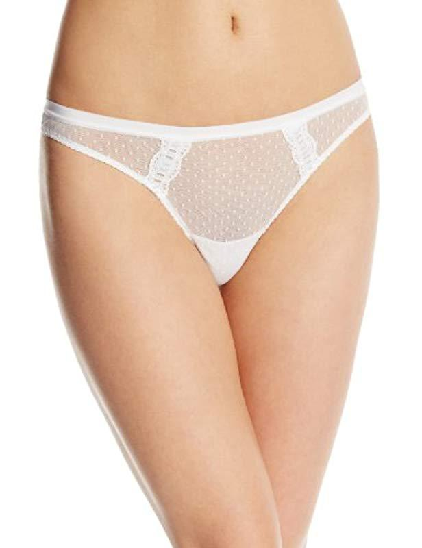 09b245fc01177 Lyst - Cosabella Erin Bridal Low Rise Thong Panty in White