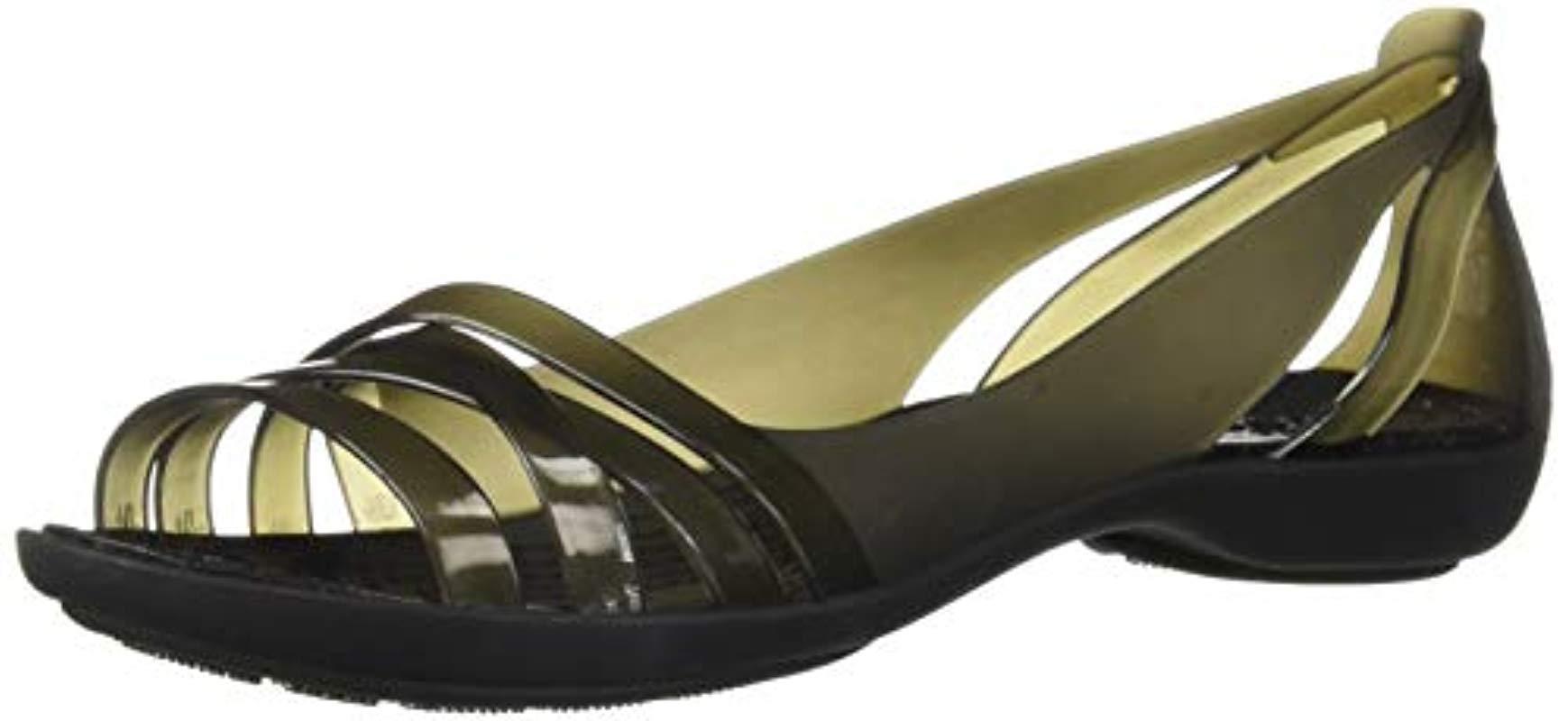 fbfba01f1251 Lyst - Crocs™ Isabella Huarache 2 Flat W Sandal in Black - Save 52%