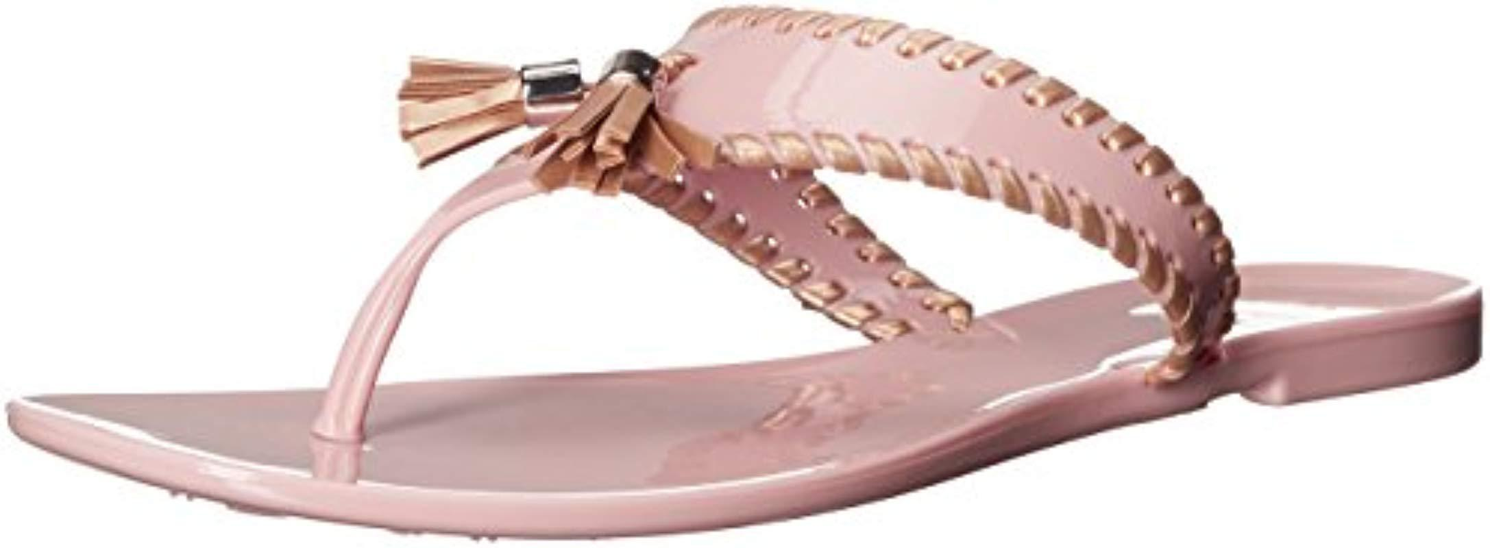 42092be26dba Lyst - Jack Rogers Alana Jelly Flip Flop in Pink - Save 11%