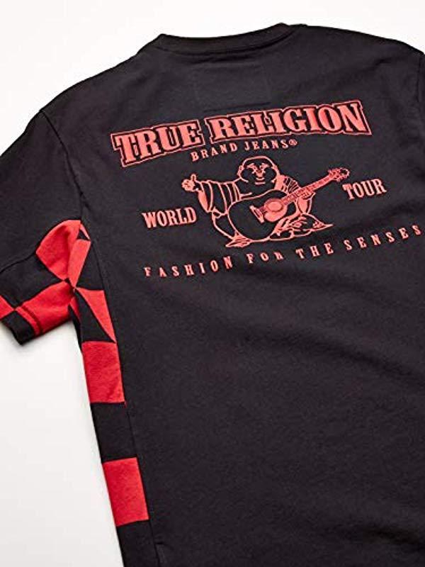 09073368 Lyst - True Religion Side Panel Print Tee in Black for Men