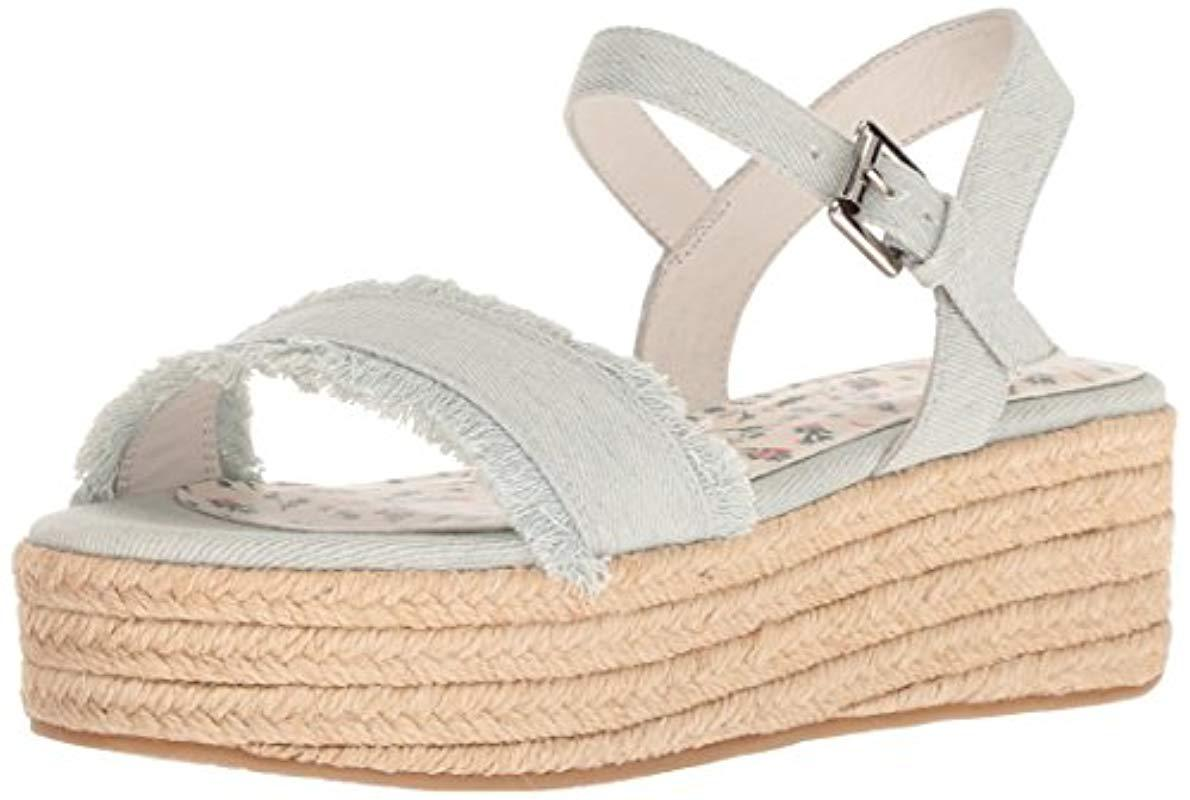 cee8d1bf09f Lyst - Chinese Laundry Ziba Espadrille Wedge Sandal in Blue - Save 46%