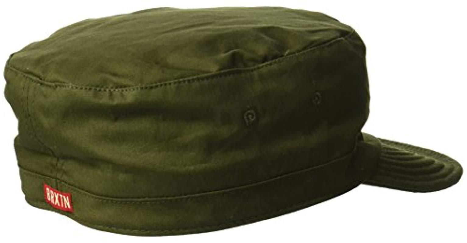 b2a101081b0de Brixton - Green Brigade Unstructured Military Style Hat for Men - Lyst.  View fullscreen