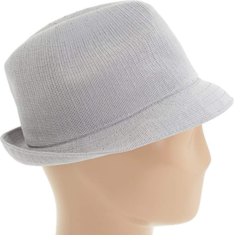 2d1cd1d449cb2 Kangol - Gray Tropic Player Fedora Hat for Men - Lyst. View fullscreen
