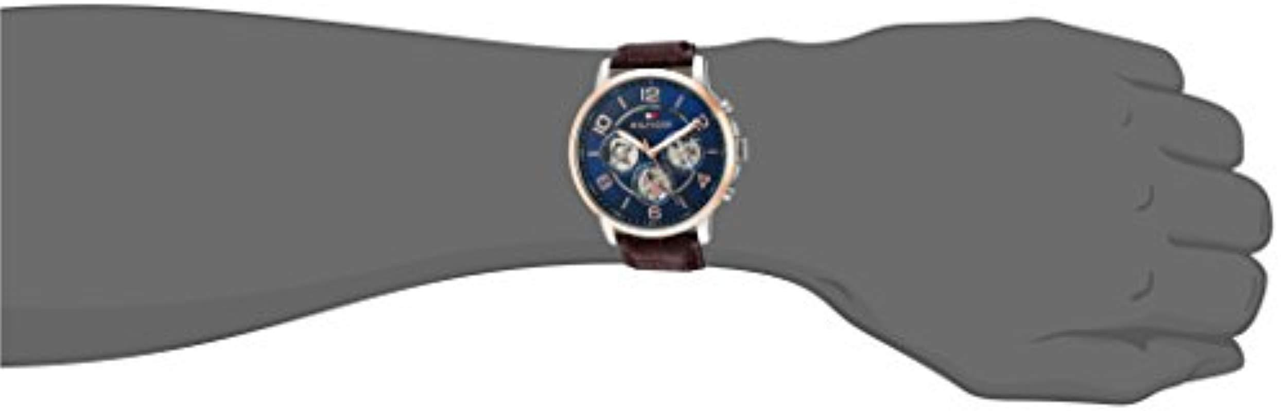Lyst Tommy Hilfiger Quartz Stainless Steel And Leather Casual Seiko Prospex Ssc347p1 Sky Solar Chronograph Blue Dial View Fullscreen