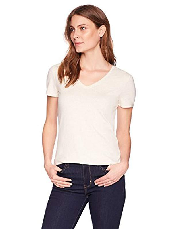 99511d92b489 Lyst - Amazon Essentials 2-pack Short-sleeve V-neck Solid T-shirt in White