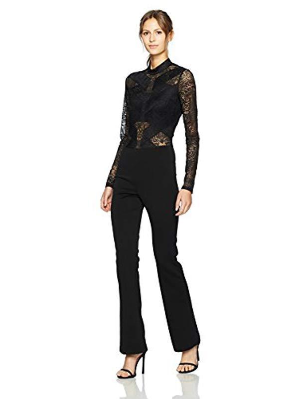 f9bb7b284b7 Lyst - BCBGMAXAZRIA Elshane Knit Jumpsuit in Black