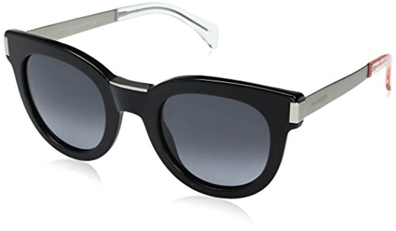 c604fd2654b3 Tommy Hilfiger. Women's Th1379s Rectangular Sunglasses Black Matte Palladium /gray Gradient ...