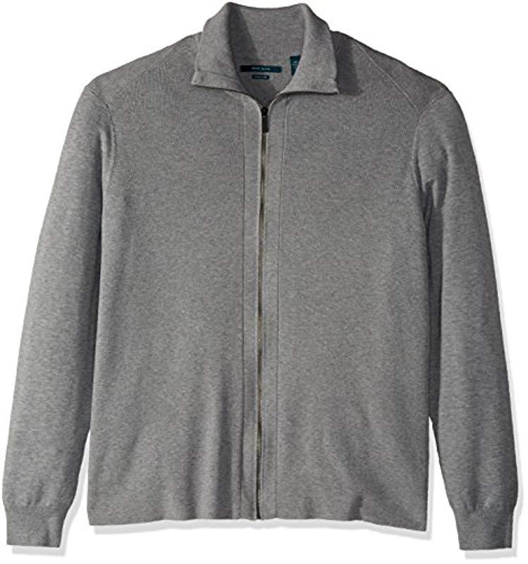 Lyst - Perry Ellis Big And Tall Solid Ribbed Full-zip Sweater in ... e97f1f821