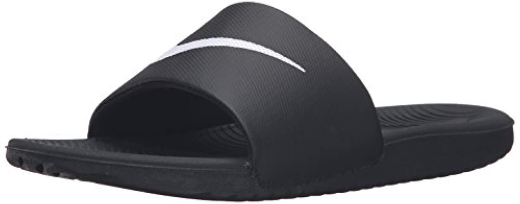 half off ab3dc a0d28 Nike - Black Kawa Slide Athletic Sandal for Men - Lyst. View fullscreen