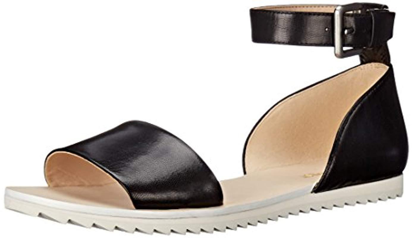 178d9f2ac222 Lyst - Nine West Querin Leather Dress Sandal in Black - Save 64%