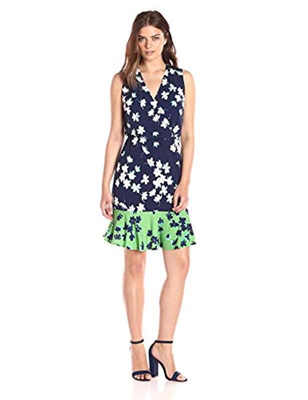 37fe7ea77549 Lyst - Eliza J Printed Surplus Bodice Dress (regular   Petite) in ...